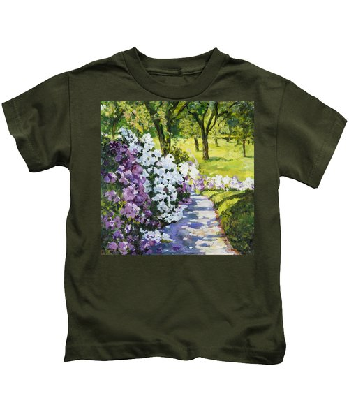 Purple White Kids T-Shirt