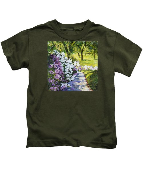 Purple White Kids T-Shirt