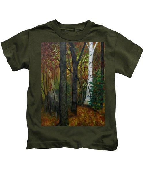 Quiet Autumn Woods Kids T-Shirt
