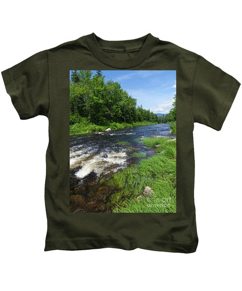 Quill Pond Brook Near Rangeley Maine  -70748 Kids T-Shirt