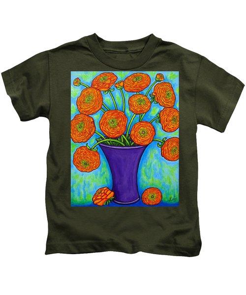 Radiant Ranunculus Kids T-Shirt