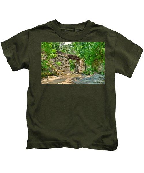 Railroad Tracks At Buttermilk/homewood Falls Kids T-Shirt