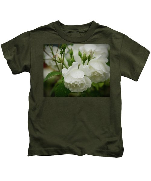 Rain Drops In Our Garden Kids T-Shirt