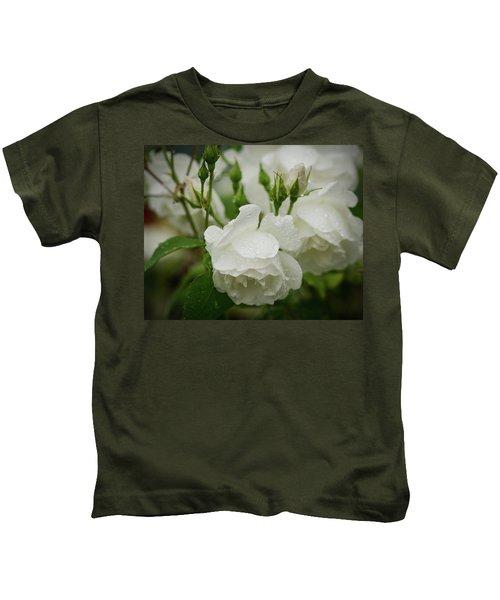 Rain Drops In Our Garden Kids T-Shirt