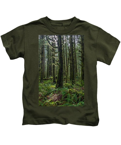 Rain Forest Of Golden Ears Kids T-Shirt