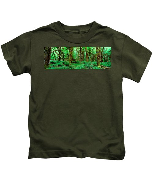 Rain Forest, Olympic National Park Kids T-Shirt by Panoramic Images