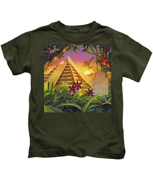 Rain Forest Pyramid  Kids T-Shirt