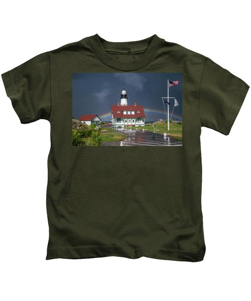 Rainbow After The Storm Kids T-Shirt