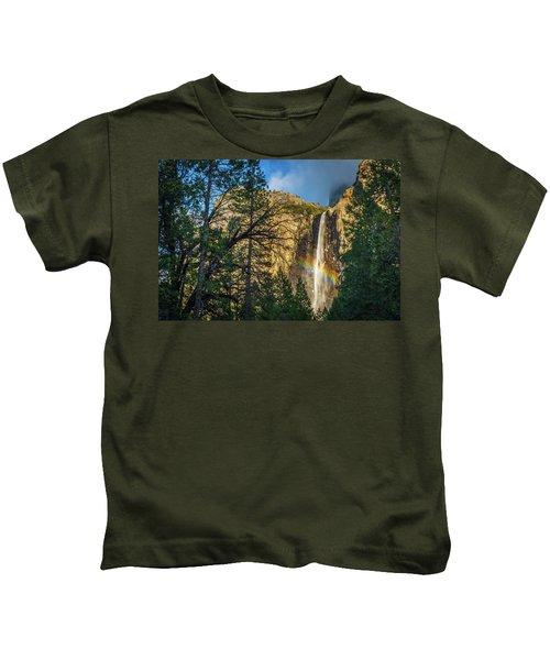 Rainbow And Bridalveil Fall Kids T-Shirt
