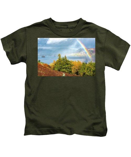 Rainbow Gold Kids T-Shirt