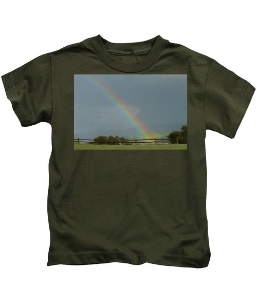 Rainbow On Valhalla Dr. Kids T-Shirt