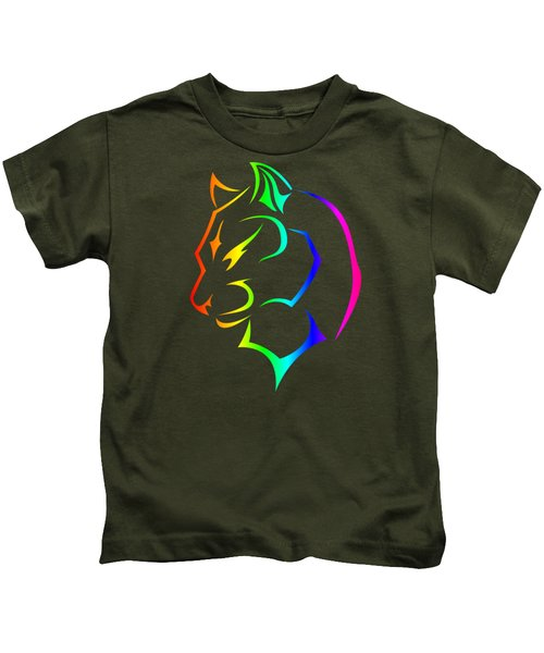 Rainbow Panther Kids T-Shirt