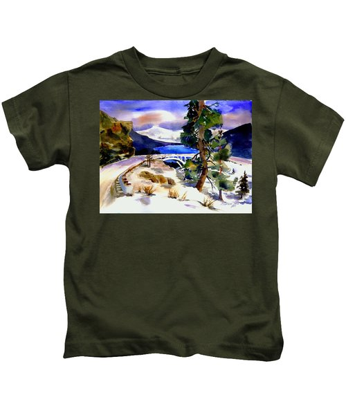Rainbowbridge Above Donner Lake Kids T-Shirt