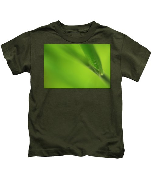 Raindrop On Grass Kids T-Shirt