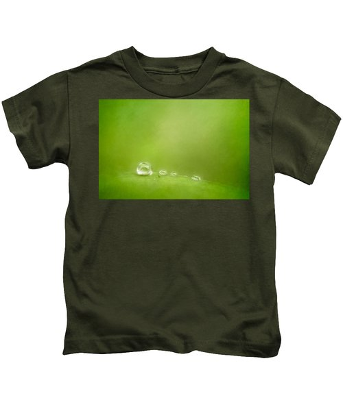 Raindrops On Green Kids T-Shirt