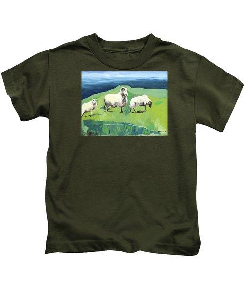 Ram On A Hill Kids T-Shirt