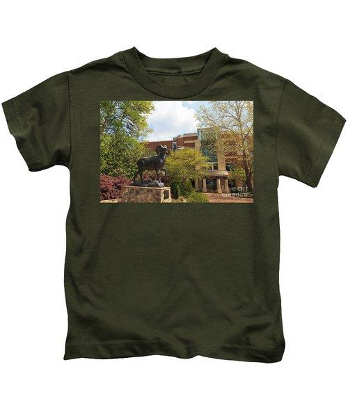 Ramses The Bighorn Ram Sculpture Kids T-Shirt