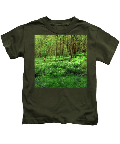Ramsons And Bluebells, Bentley Woods Kids T-Shirt