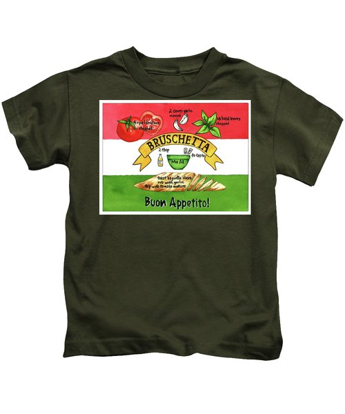 Recpe-bruschetta Kids T-Shirt