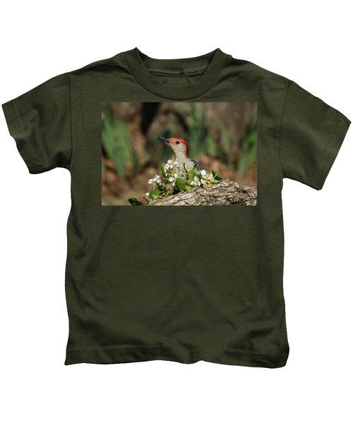 Red-bellied Woodpecker In Spring Kids T-Shirt