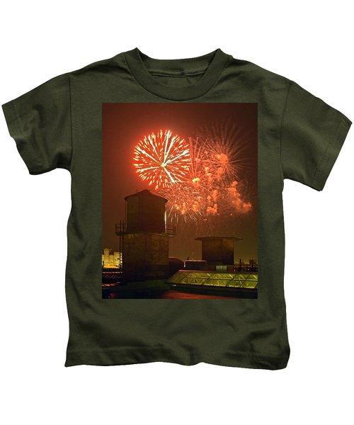 Red Fireworks Kids T-Shirt