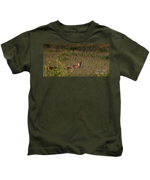 Red Fox Family Kids T-Shirt