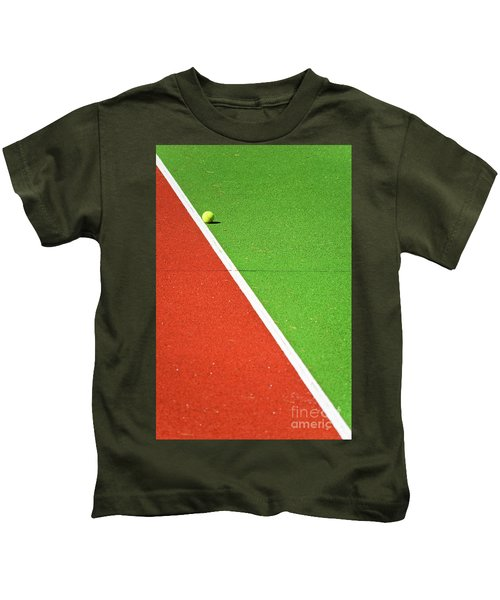 Red Green White Line And Tennis Ball Kids T-Shirt