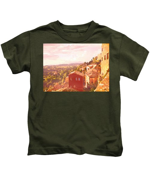 Red House On A Hill Kids T-Shirt
