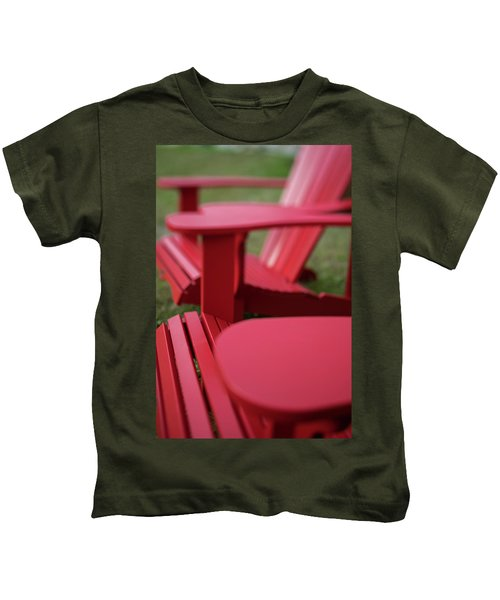 Red Lawn Chair Number 2 Kids T-Shirt