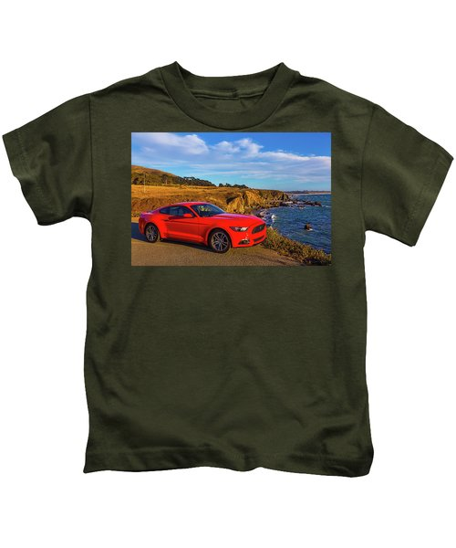 Red Mustang Sonoma Coast Kids T-Shirt