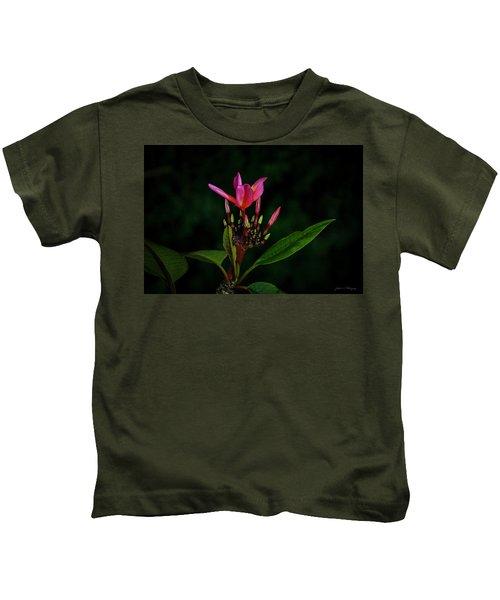 Red Plumeria Kids T-Shirt