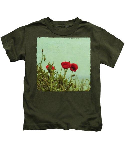 Red Poppies Kids T-Shirt