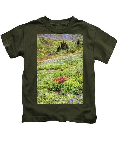 Red Rock Of Rainier Kids T-Shirt