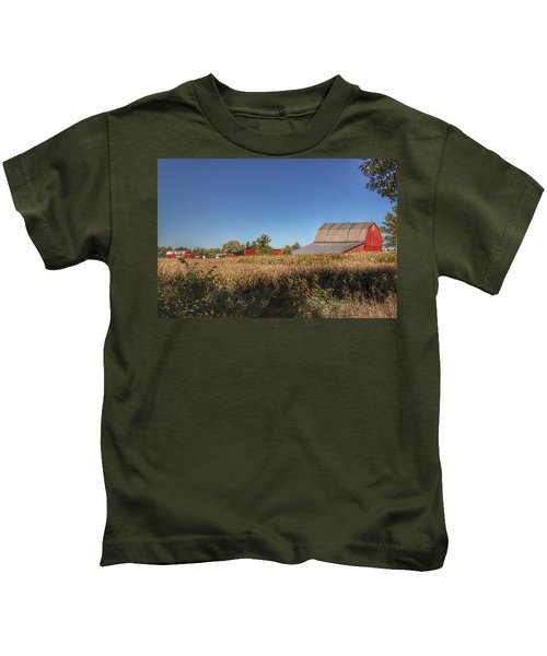 0042 - Red Saltbox Barn Kids T-Shirt