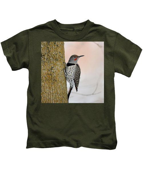 Red Shafted Northern Flicker Kids T-Shirt