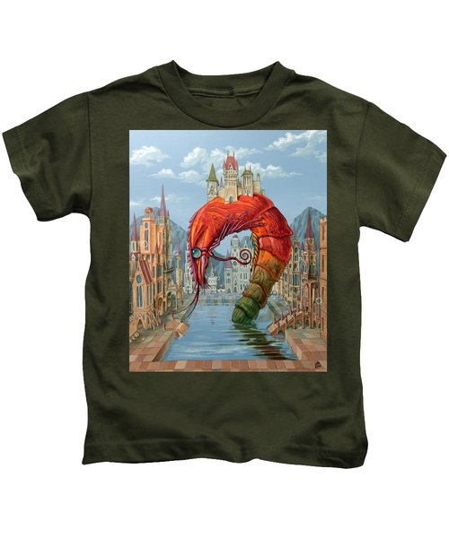 Red Shrimp Kids T-Shirt