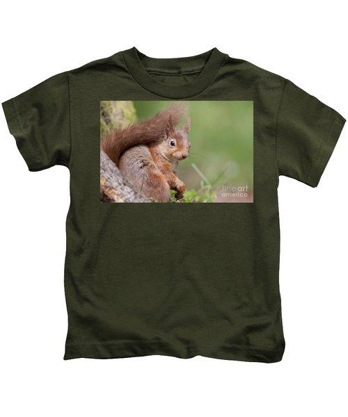 Red Squirrel - Scottish Highlands  #17 Kids T-Shirt