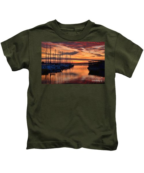 Red  Sunrise Kids T-Shirt