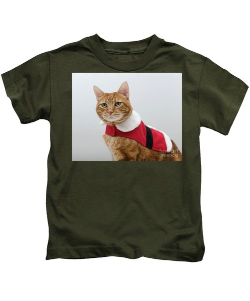 Red Tubby Cat Tabasco Santa Clause Kids T-Shirt