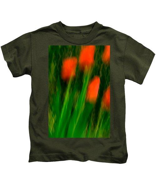 Red Tulips Kids T-Shirt