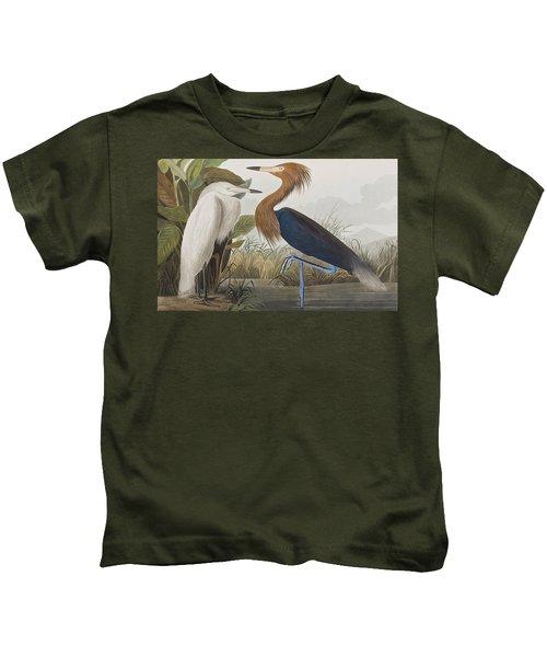Reddish Egret Kids T-Shirt
