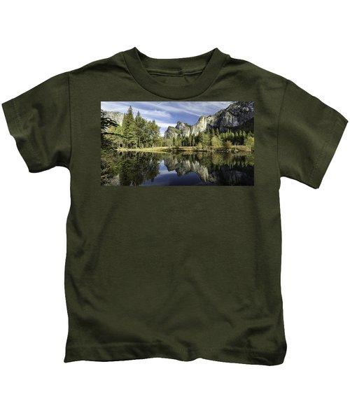Reflecting On Yosemite Kids T-Shirt