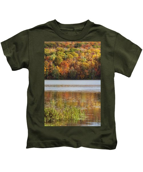 Reflection Of Autumn Colors In A Lake Kids T-Shirt