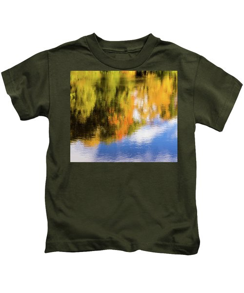 Reflection Of Fall #2, Abstract Kids T-Shirt