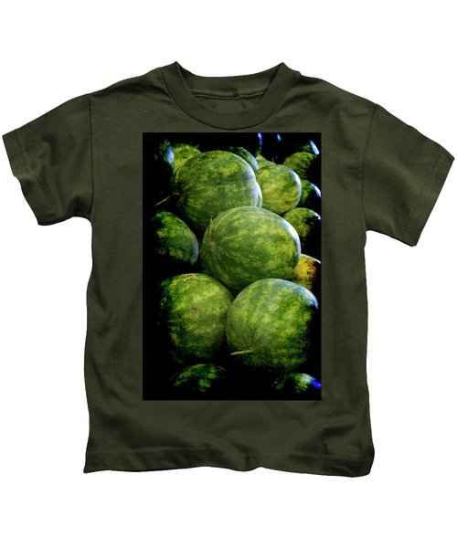 Renaissance Green Watermelon Kids T-Shirt
