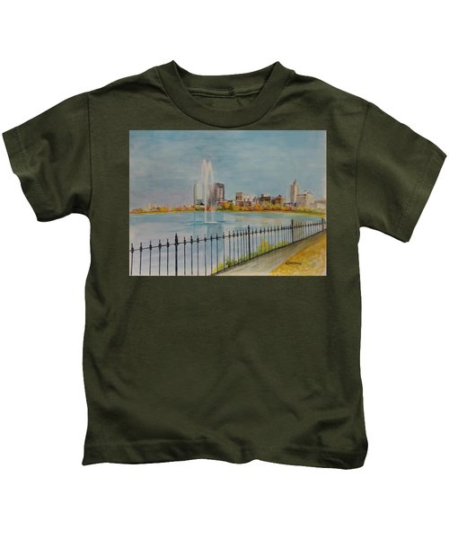 Reservoir In Central Park Kids T-Shirt