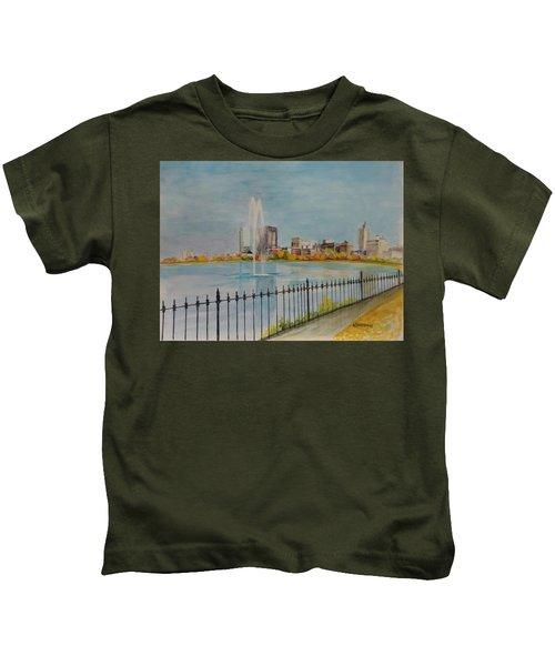 Reservoir In Central Park Kids T-Shirt