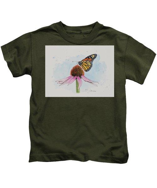 Resting Monarch Kids T-Shirt