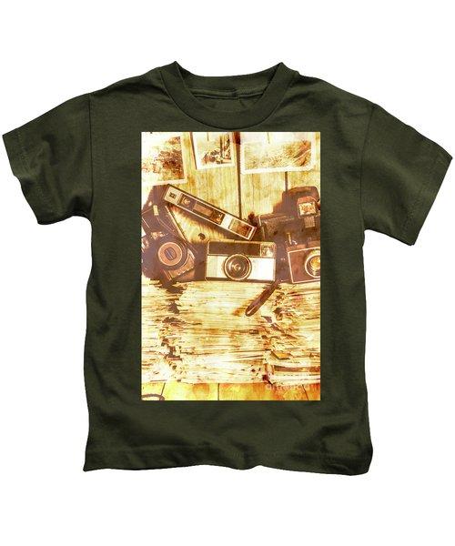 Retro Film Cameras Kids T-Shirt