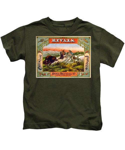 Retro Tobacco Label 1872 D Kids T-Shirt